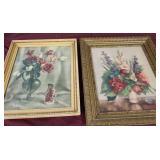 Vintage framed florals