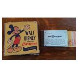 Walt Disney movie reel & tickets
