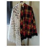 Poncho & crocheted shawl