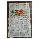Vintage Calendar Towels