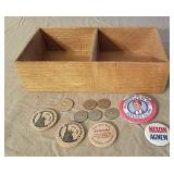 Wooden Nickels, Presidential Pins