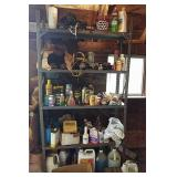 Metal Shelving Unit & contents