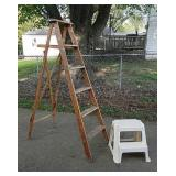 Wood step ladder & stool