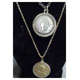 American Indian Token &&20 Liberty Coin Pendants