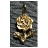 Rose 14K gold pendant