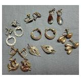 Clip & screw back earrings (9)
