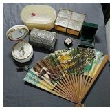 Trinket boxes,  Oriental Fan