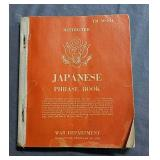 Japanese phrasebook, war department