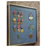 WW 2 Medals in Framed Display