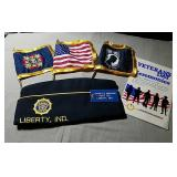 American Legion Hat & Flags