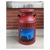 Country Milk Can