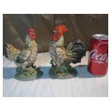 2 Vintage Homco #1446 Roosters