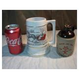 Vintage Brown Jug & 1964 Stein