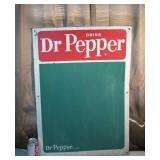 RARE Circa-1941 Dr Pepper Chalk Board Sign