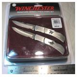 New Winchester Knife Set With Tin