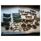 Vintage Lot Brass Furniture Hardware