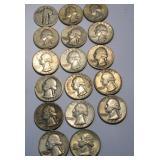 17 Silver Quarters 1964 & Under