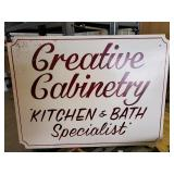 Wood sign Creative Cabinetry