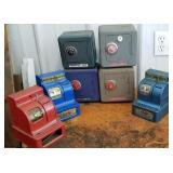 Toy Metal safes and cash registers
