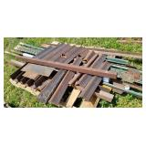 Angle iron and steel fence posts