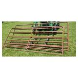 "Pipe Gates (2) 9 foot 8 inches wide, 48"" tall"