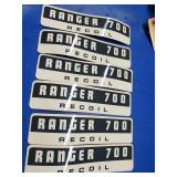 Ranger 700 Recoil stickers (6)