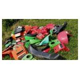 Plastic parts from various mowers, motor covers