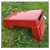 Red Plastic hood cover for lawn tractor