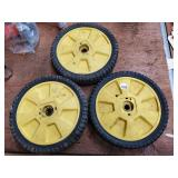 3 Lawn mower wheels and tires