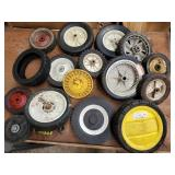 Mismatched lawn mower wheels & tires