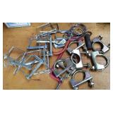 Safety hitch pins, pipe clamps, keys rings