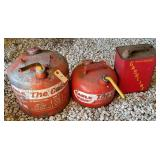 Metal Gas Cans (3)   - 2 are Eagle