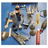 Hand tools, rasps, balancers, stapler, oil can