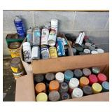 Paint - spray cans, used but not empty