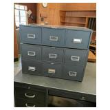 (3) Card File Cabinets
