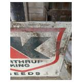 Northrup King Vintage Double Sided Metal Sign