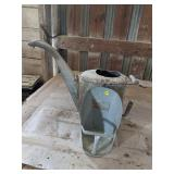 Galvanized Watering Can & Feed Scoop