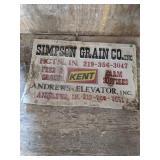Simpson Grain Sign