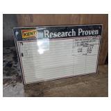 Kent Feeds Dry Erase Sign