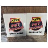 Kent Feeds Pet Food Signs