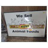 """We Sell Kent Animal Foods"" Metal Sign"