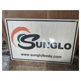 Metal SunGlo Feeds Sign