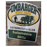 Umbrager Show Feeds Metal Sign