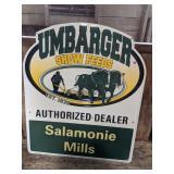 Umbarger Show Feeds Metal Sign