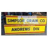 Simpson Grain Co Andrews Div Metal Sign