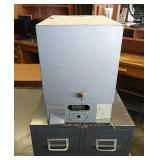 Locking Card File & Two Drawer Card File