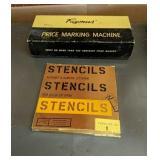 Stencils & Vinatge Price Marking Machine