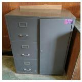 Cole Steel File Cabinet w/ Storage