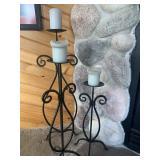 Metal candlesticks set of 3
