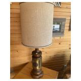 Table lamp with wood & metal base